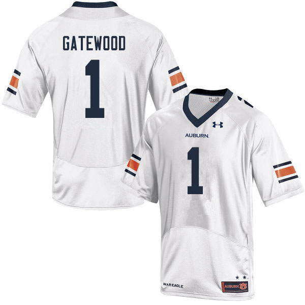 Men #1 Joey Gatewood Auburn Tigers College Football Jerseys Sale-White