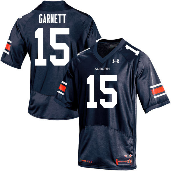 Men #15 Chayil Garnett Auburn Tigers College Football Jerseys Sale-Navy