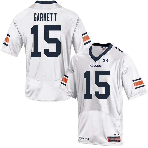 Men #15 Chayil Garnett Auburn Tigers College Football Jerseys Sale-White