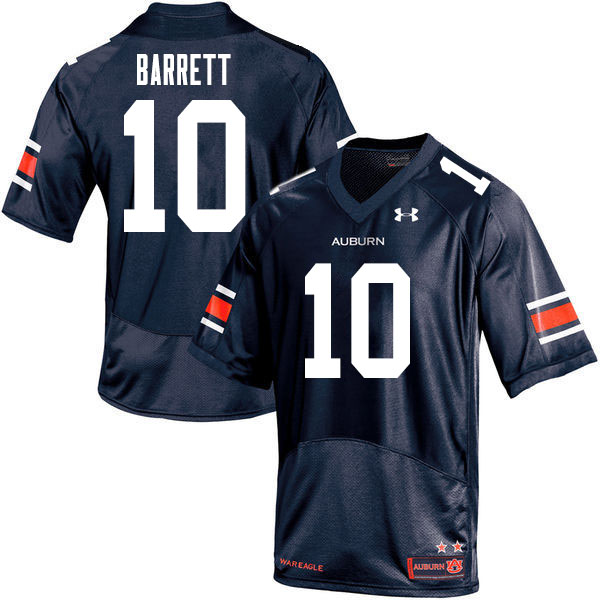 Men #10 Devan Barrett Auburn Tigers College Football Jerseys Sale-Navy