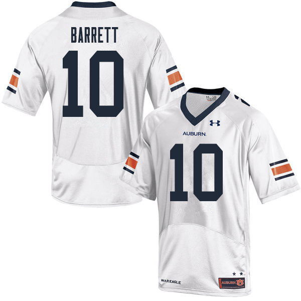 Men #10 Devan Barrett Auburn Tigers College Football Jerseys Sale-White