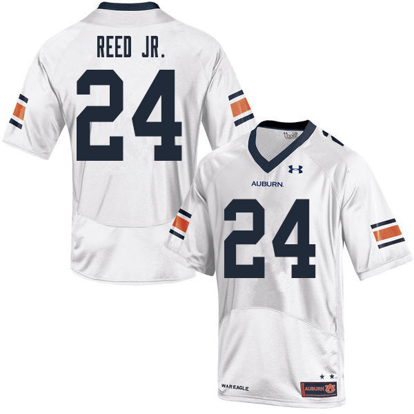 Men #24 Eric Reed Jr. Auburn Tigers College Football Jerseys Sale-White