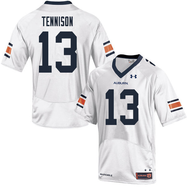 Men #13 Ladarius Tennison Auburn Tigers College Football Jerseys Sale-White