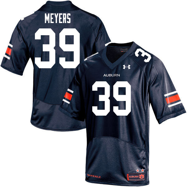 Men #39 Marshall Meyers Auburn Tigers College Football Jerseys Sale-Navy