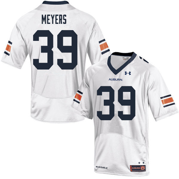 Men #39 Marshall Meyers Auburn Tigers College Football Jerseys Sale-White