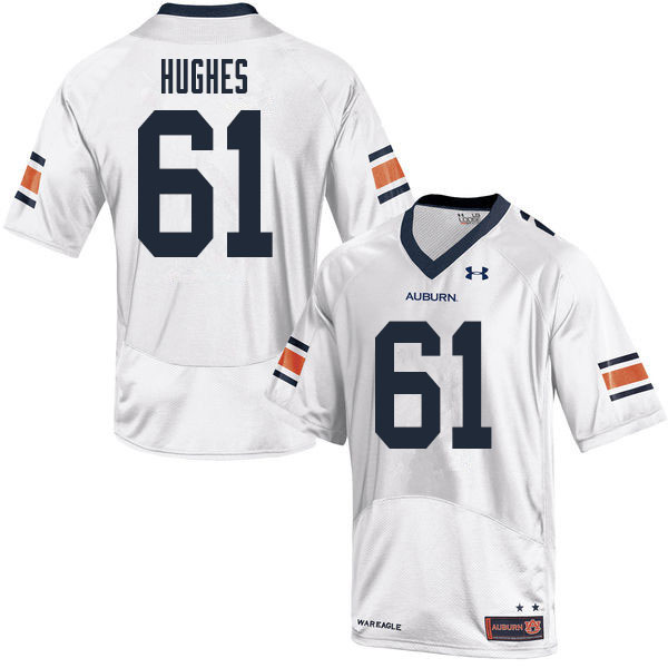 Men #61 Reed Hughes Auburn Tigers College Football Jerseys Sale-White