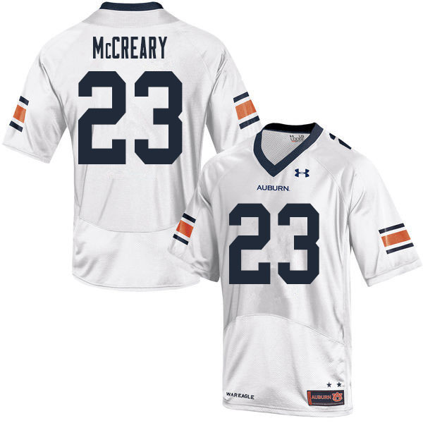 Men #23 Roger McCreary Auburn Tigers College Football Jerseys Sale-White