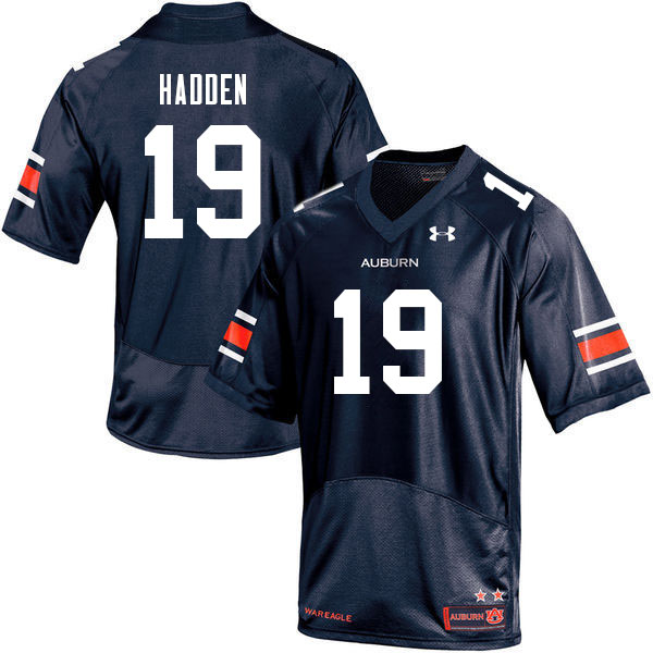 Men #19 Kamal Hadden Auburn Tigers College Football Jerseys Sale-Navy