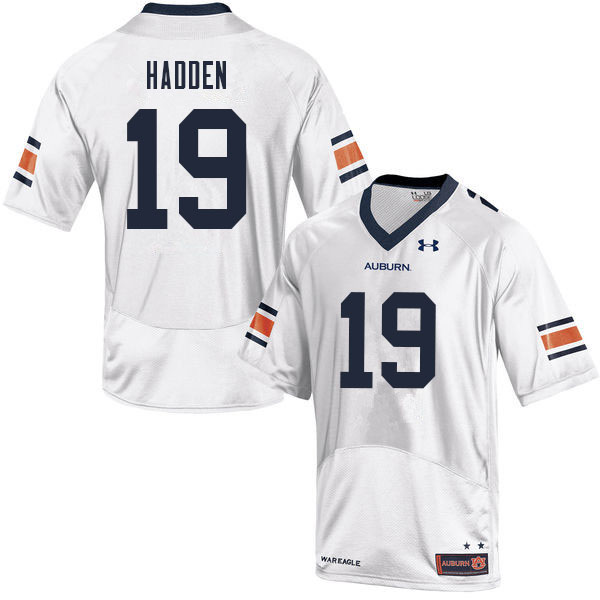 Men #19 Kamal Hadden Auburn Tigers College Football Jerseys Sale-White
