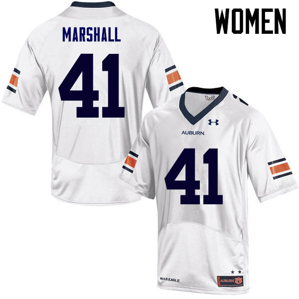 Women Auburn Tigers #41 Aidan Marshall College Football Jerseys Sale-White