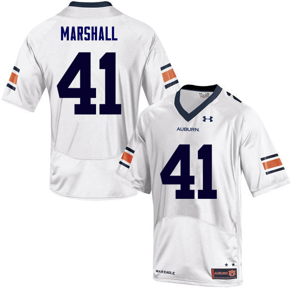 Men Auburn Tigers #41 Aidan Marshall College Football Jerseys Sale-White