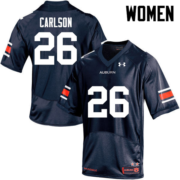Women Auburn Tigers #26 Anders Carlson College Football Jerseys-Navy