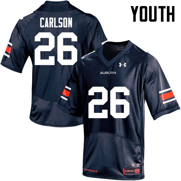 Youth Auburn Tigers #26 Anders Carlson College Football Jerseys-Navy