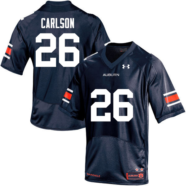 Men Auburn Tigers #26 Anders Carlson College Football Jerseys-Navy