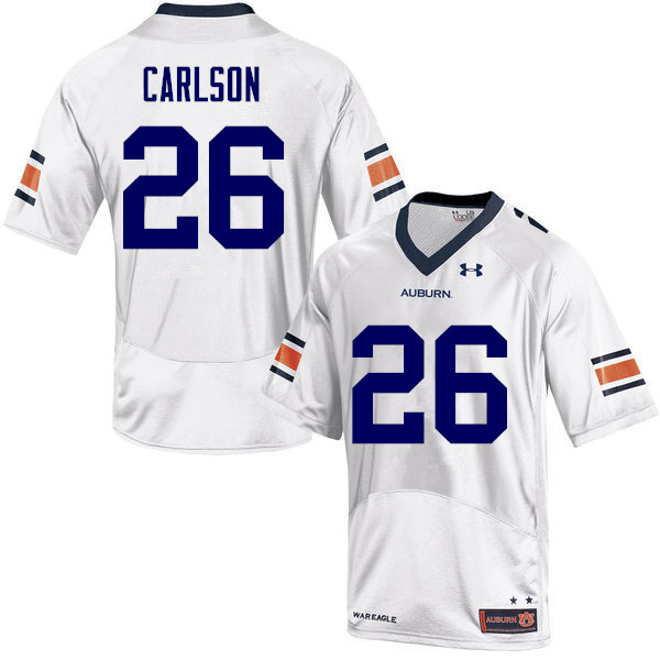 Men Auburn Tigers #26 Anders Carlson College Football Jerseys-White