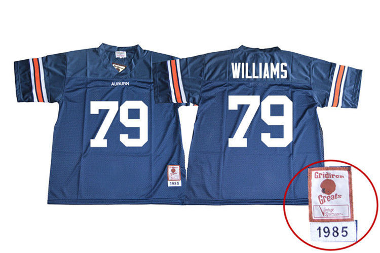 1985 Throwback Men #79 Andrew Williams Auburn Tigers College Football Jerseys Sale-Navy