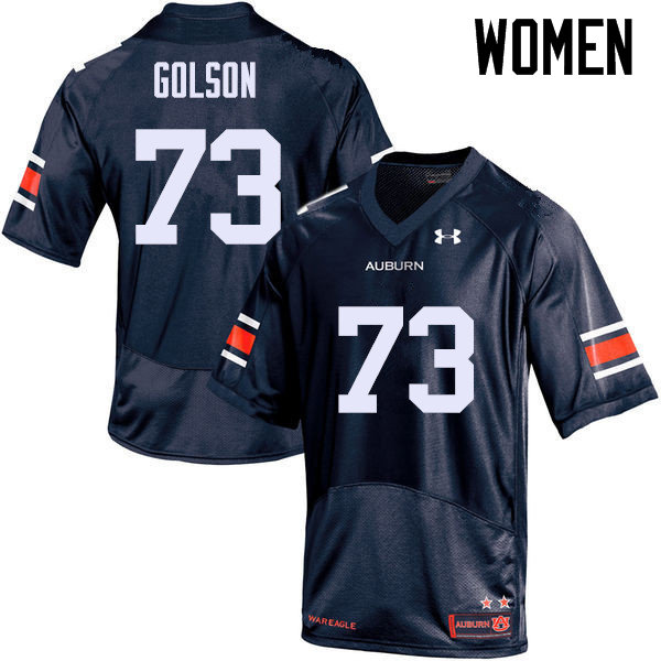 Women Auburn Tigers #73 Austin Golson College Football Jerseys Sale-Navy