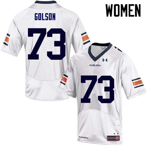 Women Auburn Tigers #73 Austin Golson College Football Jerseys Sale-White