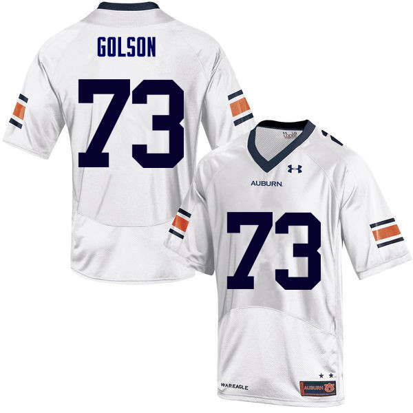 Men Auburn Tigers #73 Austin Golson College Football Jerseys Sale-White