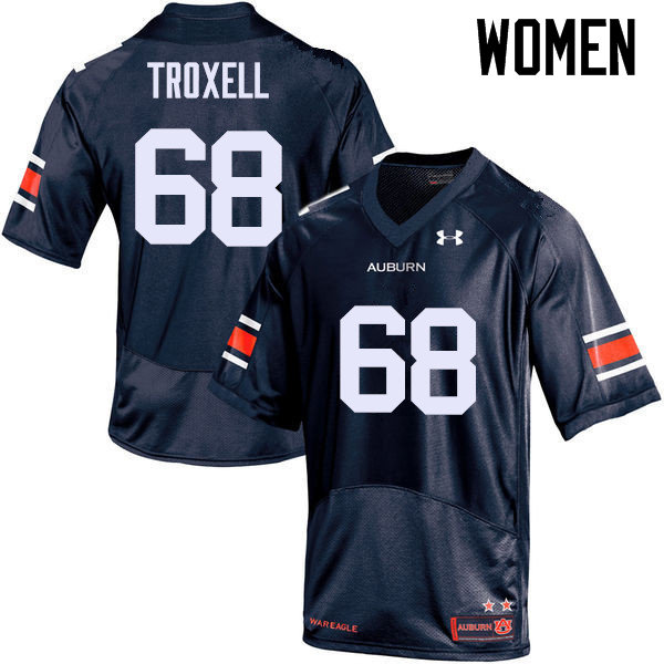 Women Auburn Tigers #68 Austin Troxell College Football Jerseys Sale-Navy