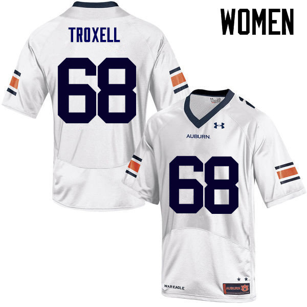 Women Auburn Tigers #68 Austin Troxell College Football Jerseys Sale-White