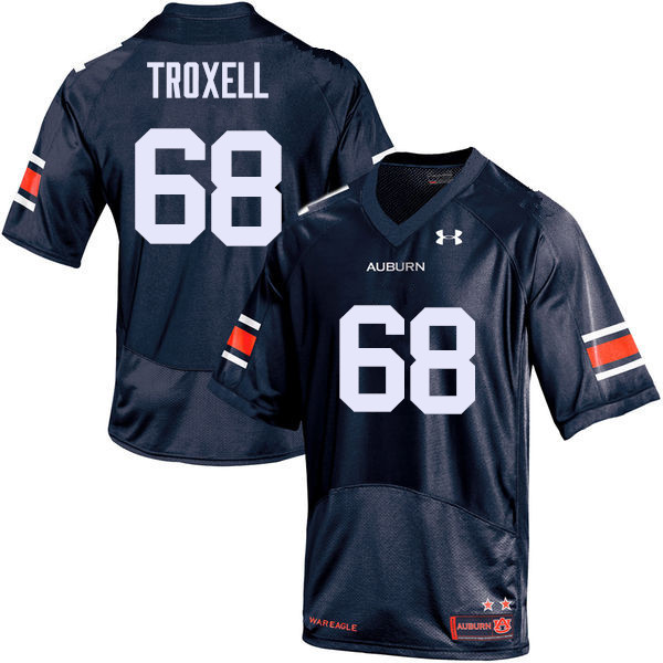 Men Auburn Tigers #68 Austin Troxell College Football Jerseys Sale-Navy