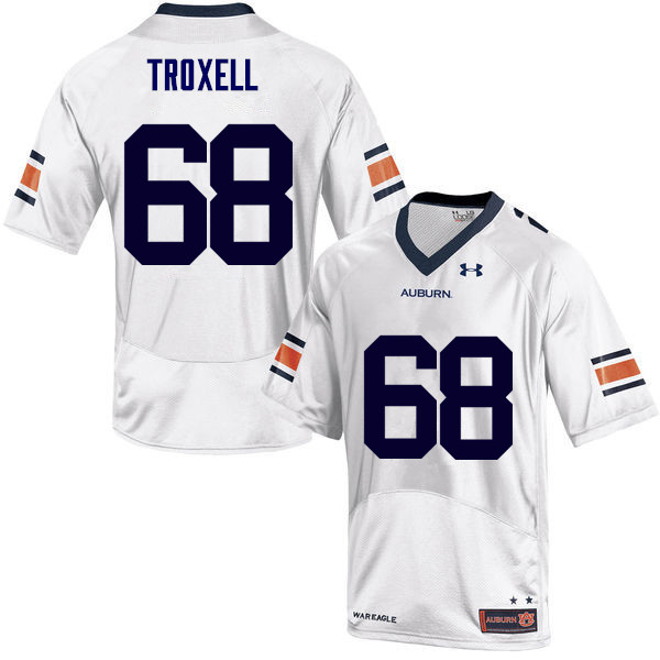 Men Auburn Tigers #68 Austin Troxell College Football Jerseys Sale-White