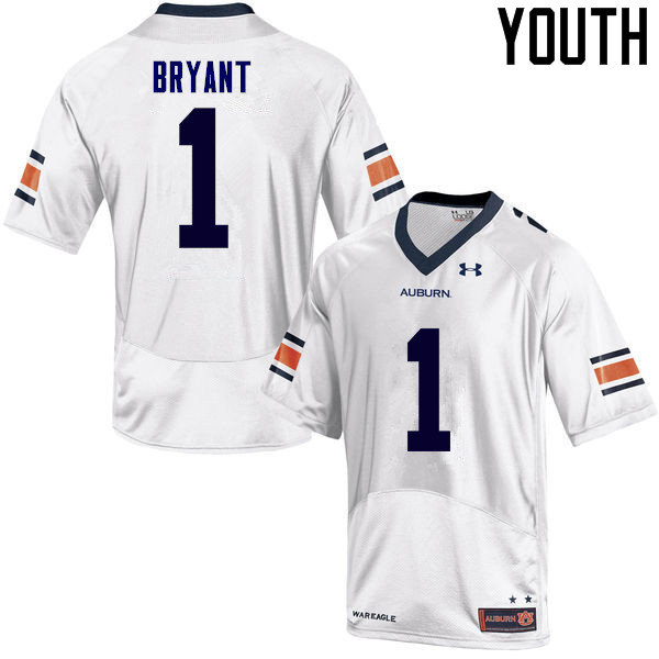 Youth Auburn Tigers #1 Big Cat Bryant College Football Jerseys Sale-White