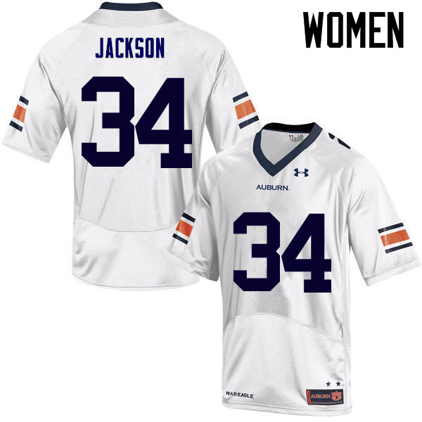 Women Auburn Tigers #34 Bo Jackson College Football Jerseys Sale-White