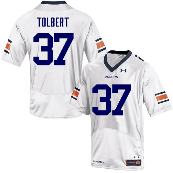 Men Auburn Tigers #37 C.J. Tolbert College Football Jerseys-White