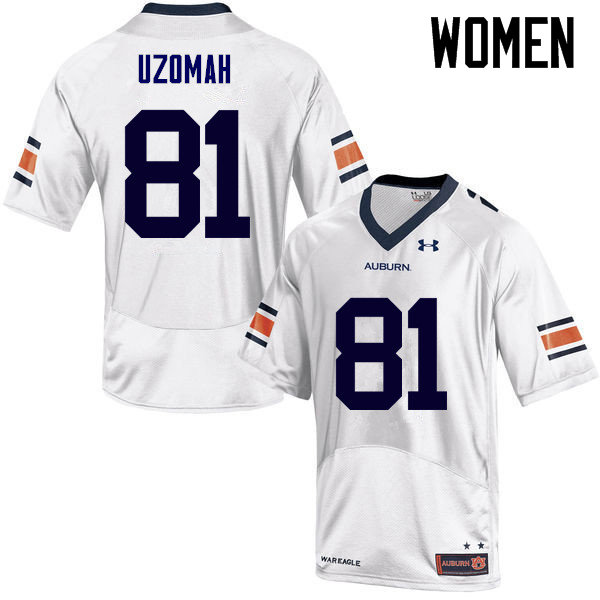 Women Auburn Tigers #81 C.J. Uzomah College Football Jerseys Sale-White