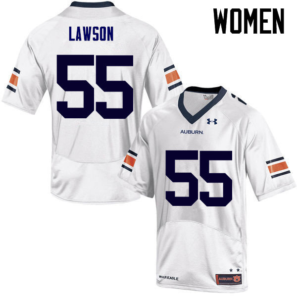 Women Auburn Tigers #55 Carl Lawson College Football Jerseys Sale-White