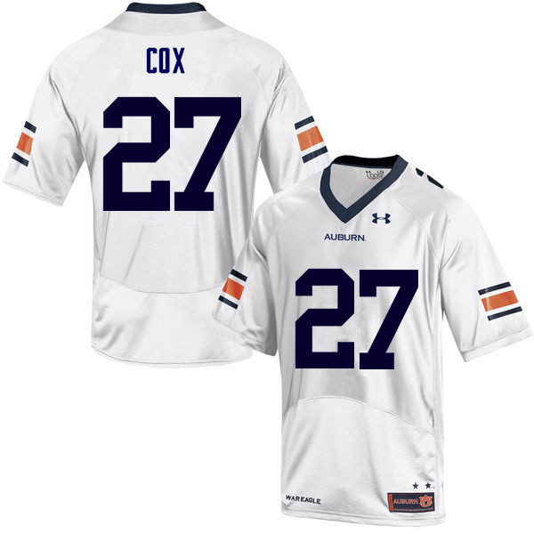 Men Auburn Tigers #27 Chandler Cox College Football Jerseys Sale-White