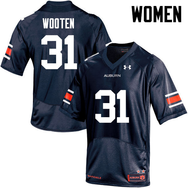 Women Auburn Tigers #31 Chandler Wooten College Football Jerseys-Navy