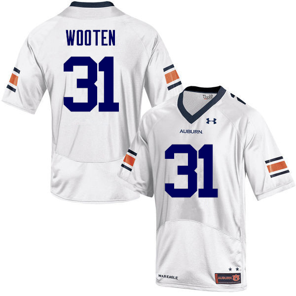 Men Auburn Tigers #17 Chandler Wooten College Football Jerseys Sale-White