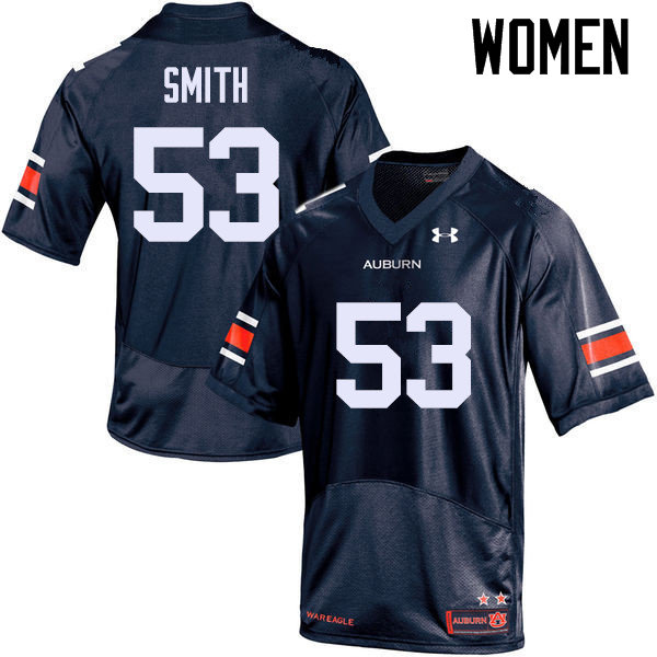 Women Auburn Tigers #53 Clarke Smith College Football Jerseys Sale-Navy