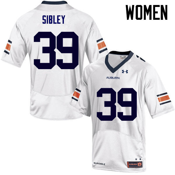 Women Auburn Tigers #39 Conner Sibley College Football Jerseys Sale-White