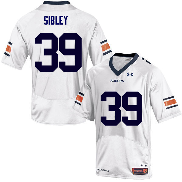 Men Auburn Tigers #39 Conner Sibley College Football Jerseys Sale-White