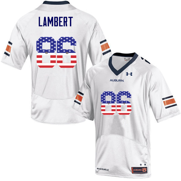 Men #86 DaVonte Lambert Auburn Tigers USA Flag Fashion College Football Jerseys-White