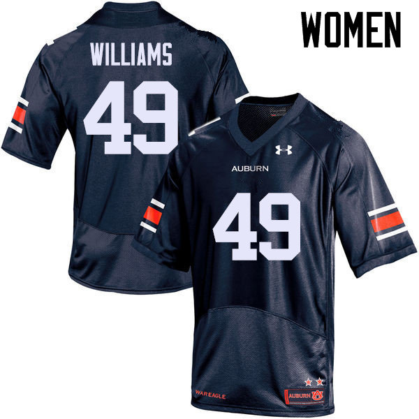 Women Auburn Tigers #49 Darrell Williams College Football Jerseys Sale-Navy