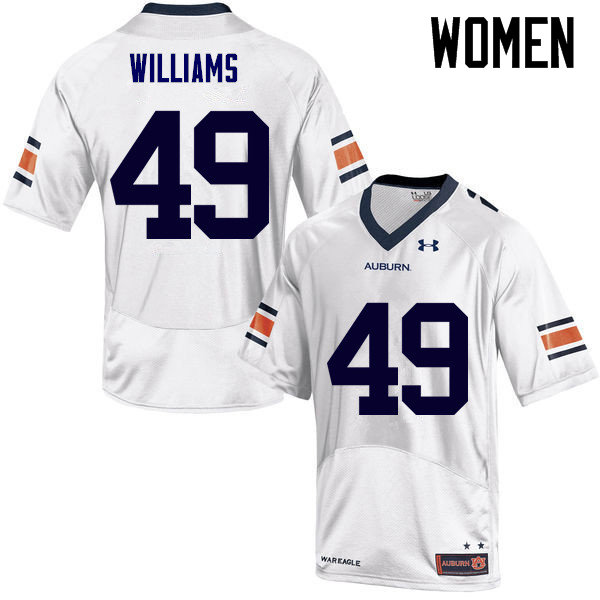 Women Auburn Tigers #49 Darrell Williams College Football Jerseys Sale-White
