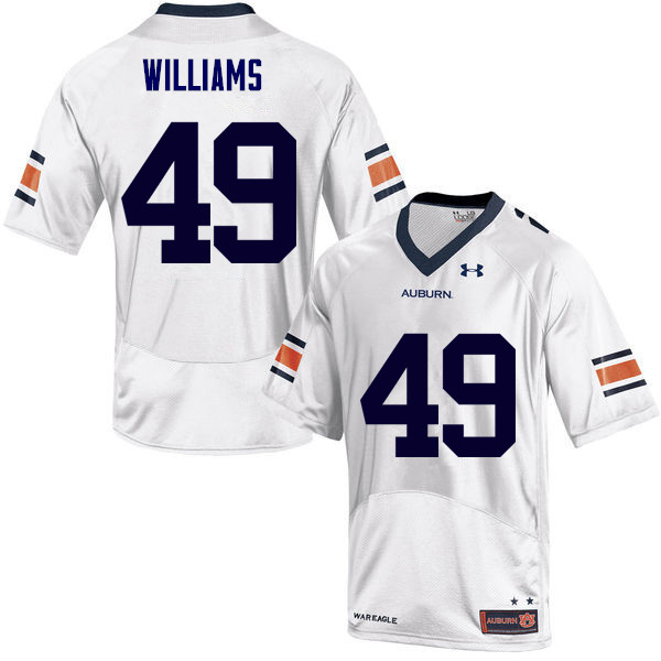 Men Auburn Tigers #49 Darrell Williams College Football Jerseys Sale-White
