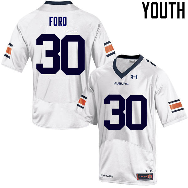 Youth Auburn Tigers #30 Dee Ford College Football Jerseys Sale-White