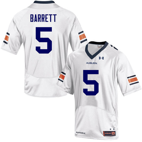 Men Auburn Tigers #5 Devan Barrett College Football Jerseys-White