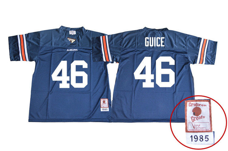 1985 Throwback Men #46 Devin Guice Auburn Tigers College Football Jerseys Sale-Navy