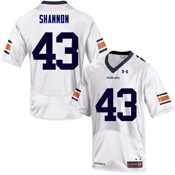 Men Auburn Tigers #43 Ian Shannon College Football Jerseys Sale-White