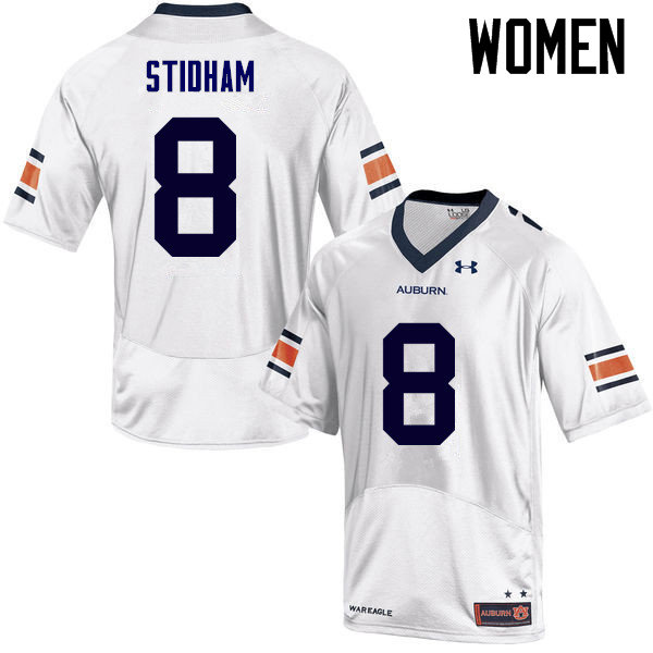 Women Auburn Tigers #8 Jarrett Stidham College Football Jerseys Sale-White