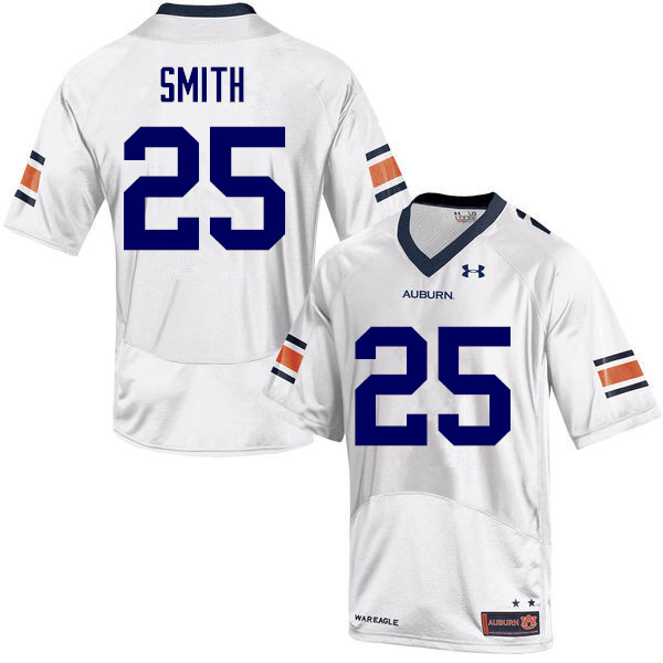 Men Auburn Tigers #25 Jason Smith College Football Jerseys-White