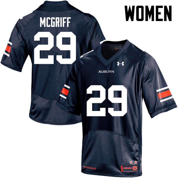 Women Auburn Tigers #29 Jaylen McGriff College Football Jerseys-Navy