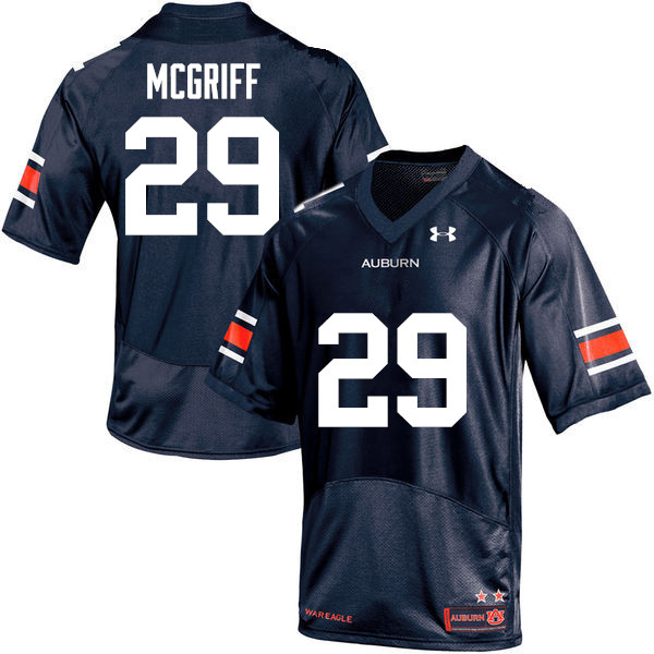 Men Auburn Tigers #29 Jaylen McGriff College Football Jerseys-Navy